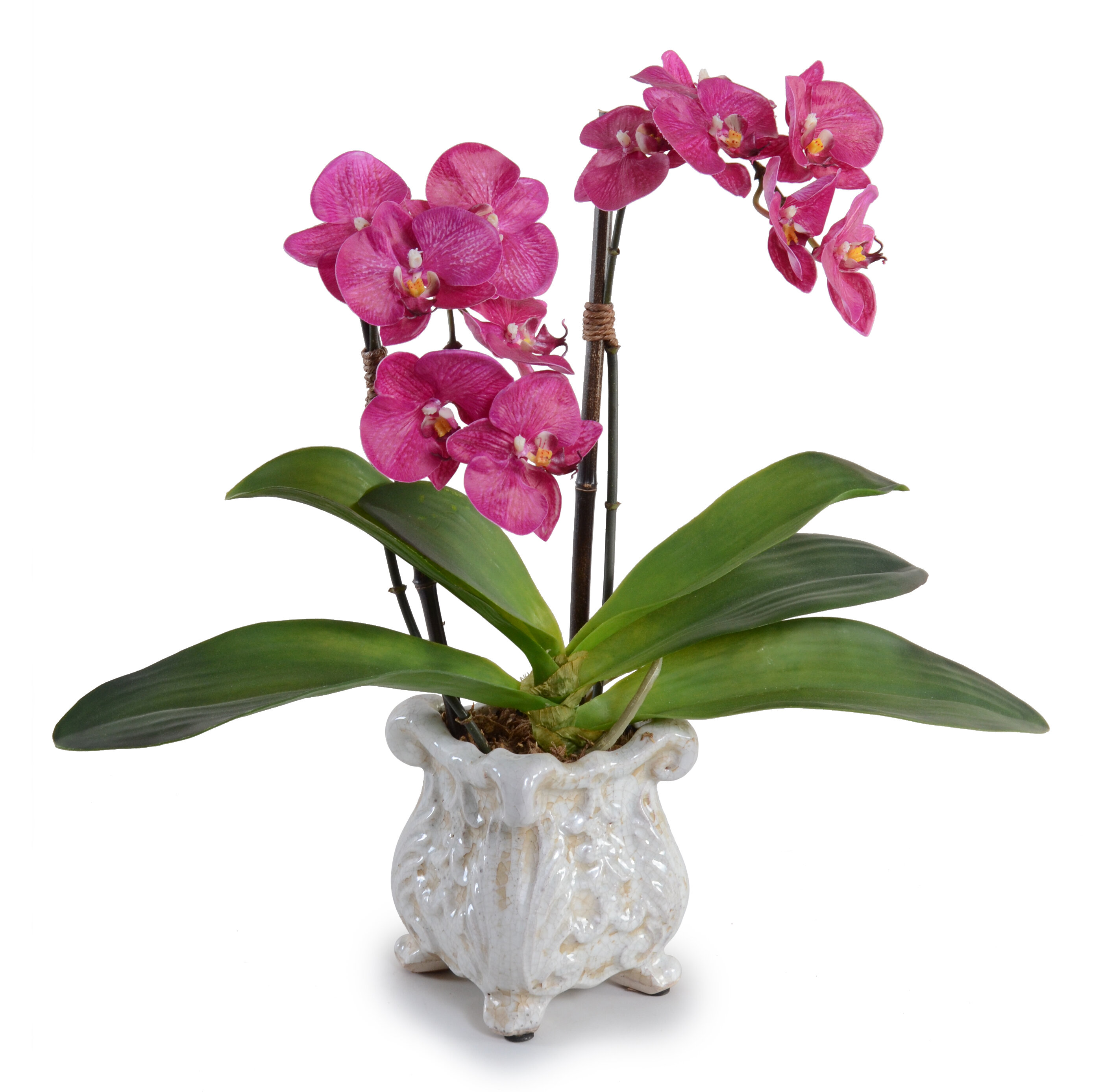 New Growth Designs Fuchsia Double Faux Phalaenopsis Orchid