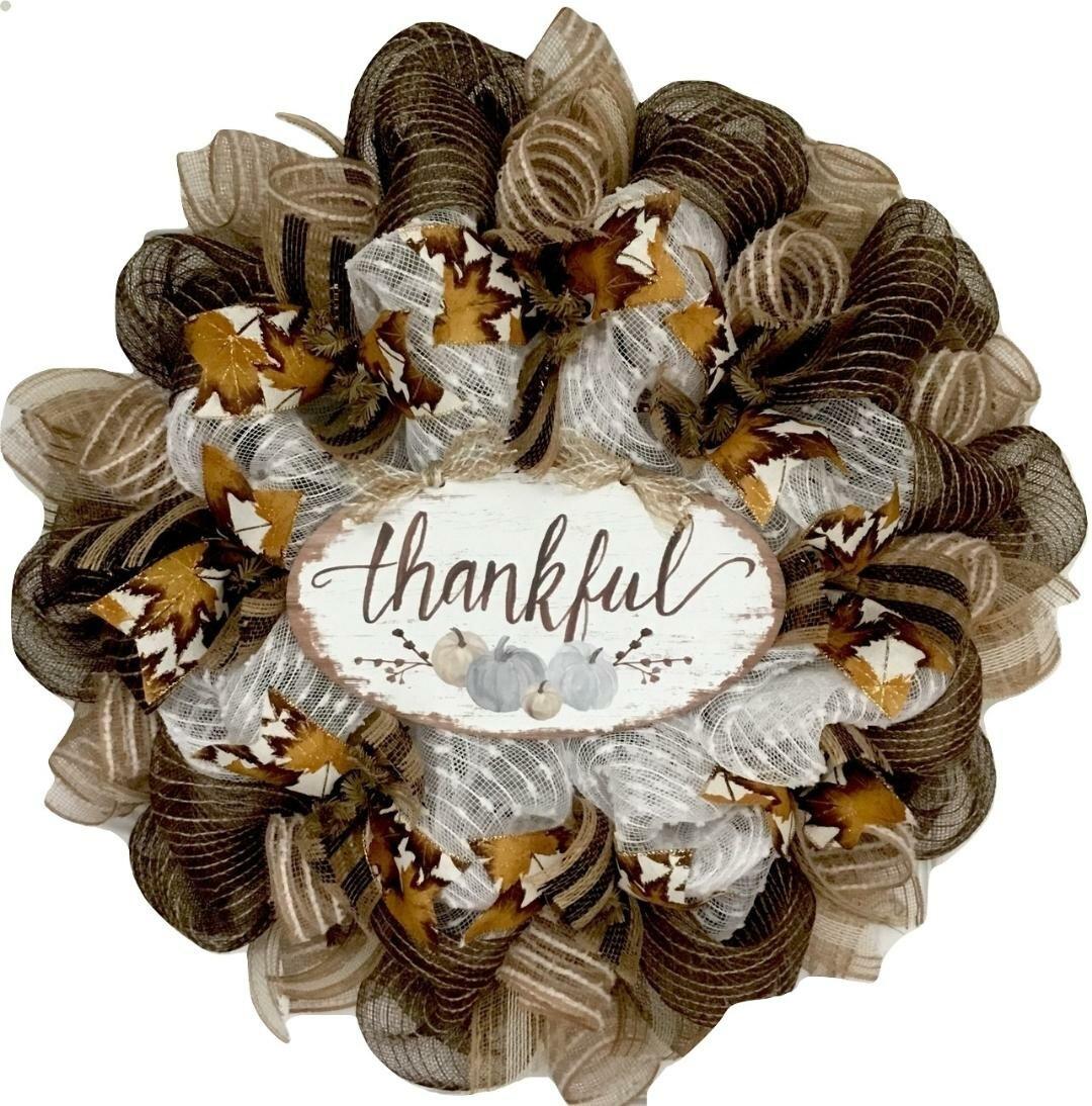The Holiday Aisle Thanksgiving 24 Deco Mesh Wreath Reviews Wayfair