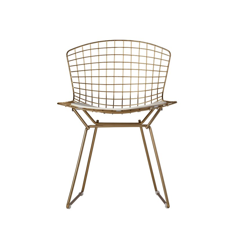 Gold Wire Dining Chair #bertoia #wire #diningchair #modern
