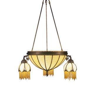 Gothic 6-Light Shaded Chandelier by Meyda Tiffany
