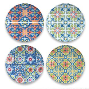 Talavera Tile 4 Piece Melamine Salad Plate By Tar Hong