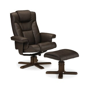 Annandale Manual Swivel Recliner With Footstool By Wade Logan