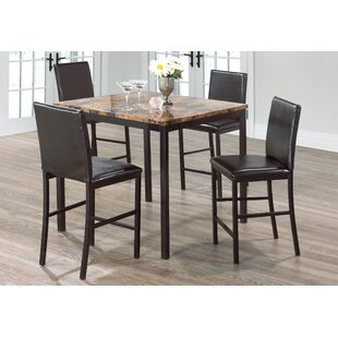 Kissner Marble 5 Piece Dining Set