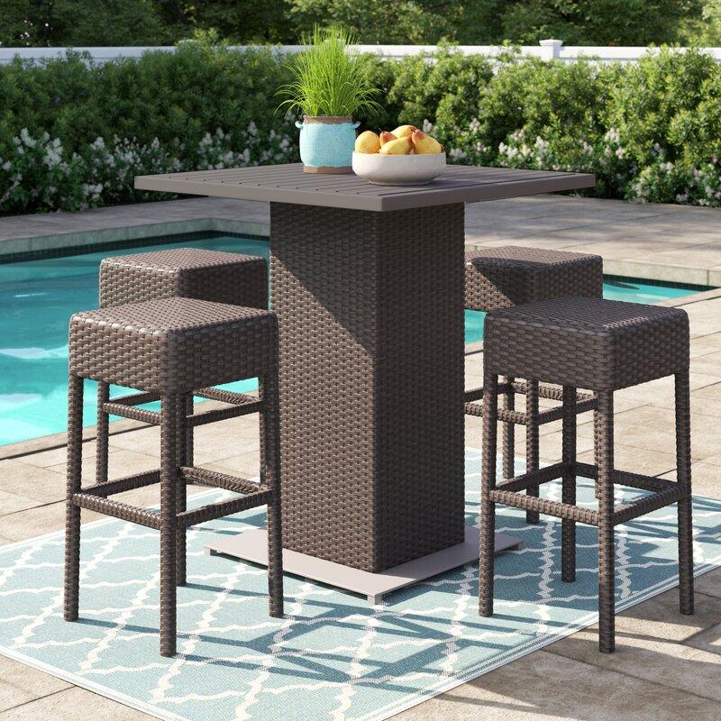 Sol 72 Outdoor Tegan 5 Piece Bar Height Pub Table Set