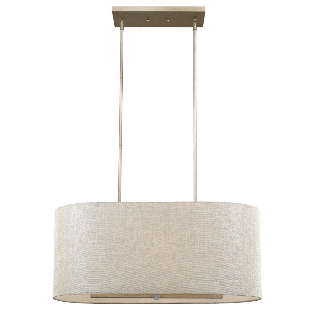 Orren Ellis Marzano 6 Light Kitchen Island Linear Pendant Wayfair