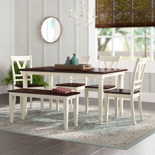 Patridge 6 Piece Solid Wood Dining Set by..