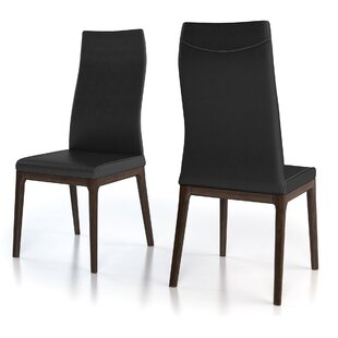 Huang Genuine Leather Upholstered Dining Chair (Set of 2)