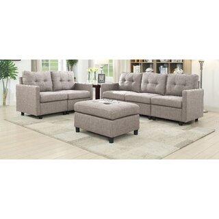Weybridge 3 Piece Living Room Set by Ebern Designs SKU:BB640325 Price Compare