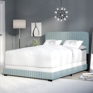 Delp Mid-Century All-in-One Upholstered Panel Bed by Mercury Row