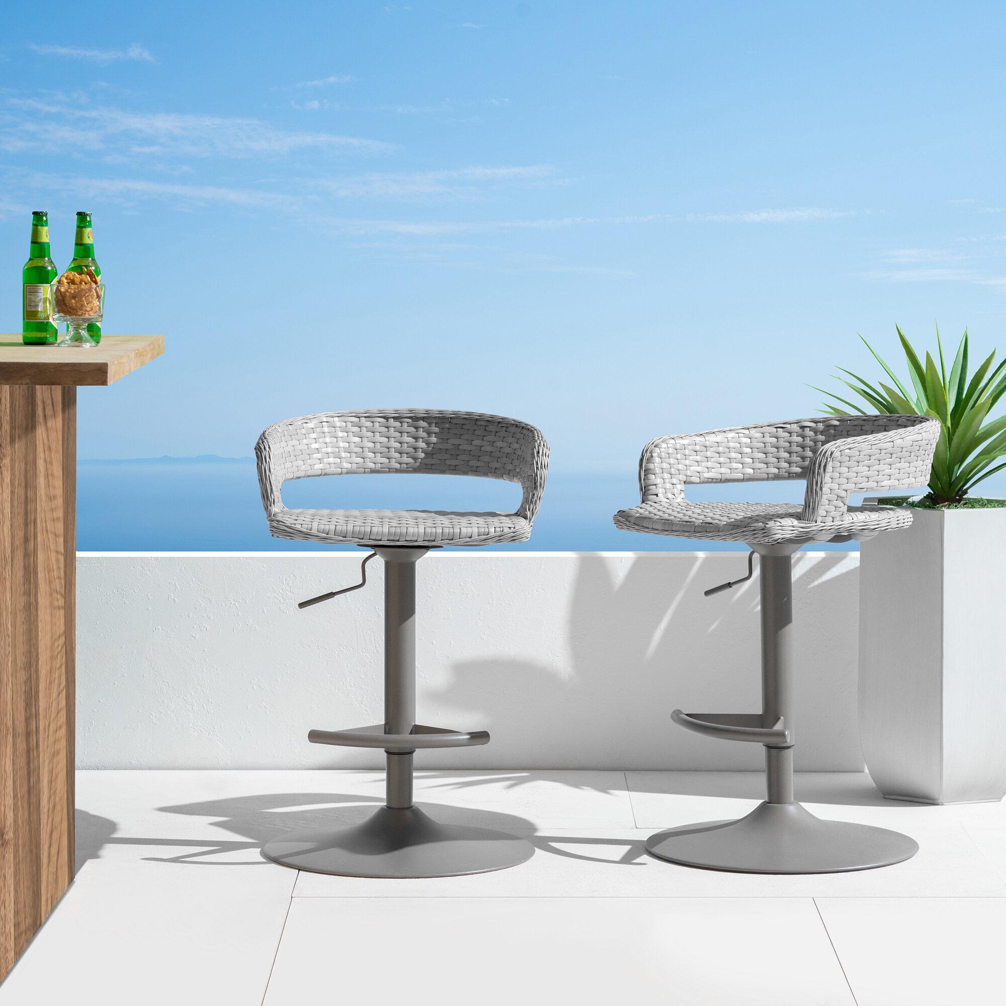 Strange Brayden Studio Binford Comfort Airlift Patio Bar Stool Dailytribune Chair Design For Home Dailytribuneorg