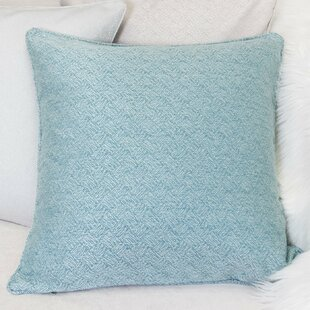 Saphira Turquoise Indoor/Outdoor Linen Throw Pillow