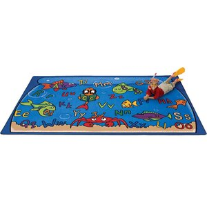Camila Alphabet Aquarium Kids Rug