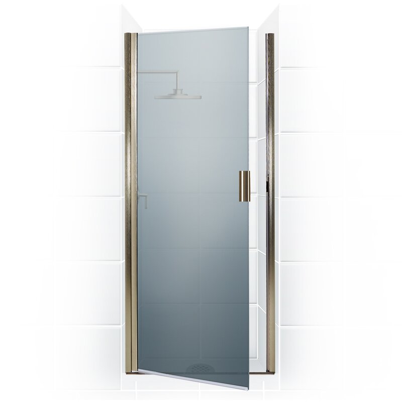 Coastal Industries Paragon Series 23 X 65 Hinged Semi Frameless Shower Door Wayfair