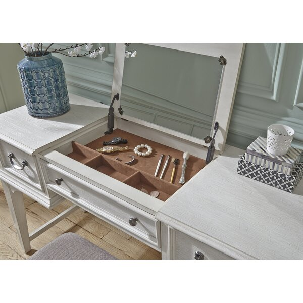 Rosecliff Heights Trenton Vanity Desk With Mirror