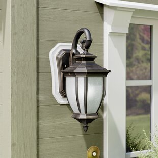 Savings Greenview 1-Light Outdoor Compact Fluorescent Wall Lantern By Three Posts