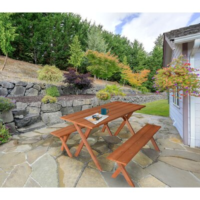 Abernethy 3 Piece Picnic Table by Rosalind Wheeler Cool