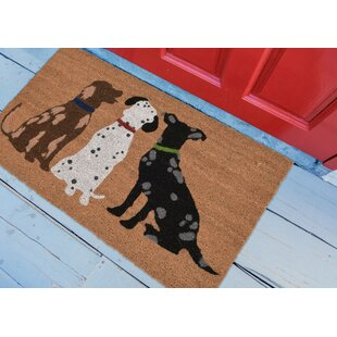 Horsham Three Dogs Doormat by Winston Porter