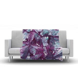 Find Ebi Emporium Birds of Prey Watercolor Fleece Blanket ByEast Urban Home