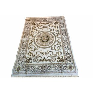Best Reviews Elaina Parisian Beige/Gold Area Rug By Astoria Grand