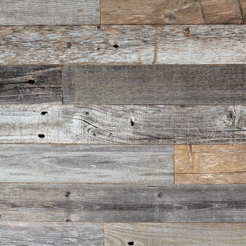 Plankandmill 3 Reclaimed Barnwood L And Stick Wall Panelling Reviews Wayfair Ca