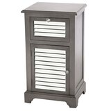 Heinrich Mirrored 1 Drawer Accent Cabinet by House of Hampton®