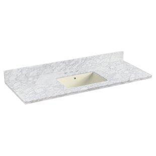 Shaker Quartz 48 Single Bathroom Vanity Top with Backsplash by Royal Purple Bath Kitchen