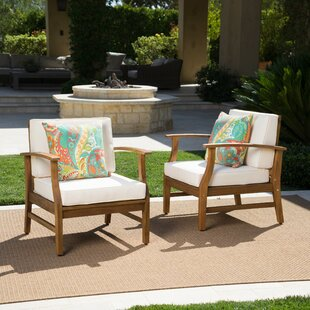 Mistana Drage Outdoor Wood Patio Chair wi..