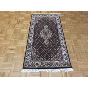 Savings One-of-a-Kind Beaton Hand-Knotted Wool Black Area Rug By Isabelline