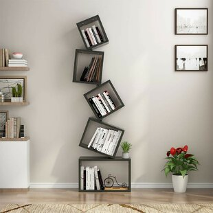 Plunkett Floating Cube Bookcase by Williston Forge