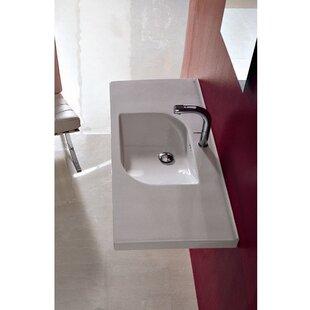 Buy luxury Play Ceramic 41 Wall Mount Bathroom Sink with Overflow ByAlthea by Nameeks