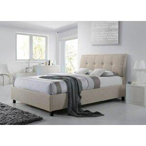 baxton studio queen upholstered storage platform bed
