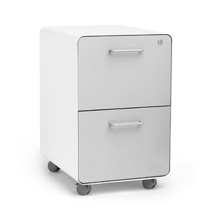 Poppin Rolling Stow 2-Drawer Vertical Fil..