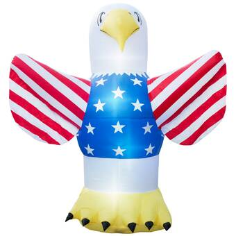 b8a23b4dd7f16 BZB Goods Patriotic Independence Day Inflatable Heart with American ...