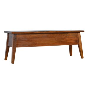 Burge Lid Up Wood Storage Dining Bench by Ivy Bronx
