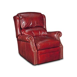 Bancroft Leather Manual Wall Hugger Recliner By Bradington-Young