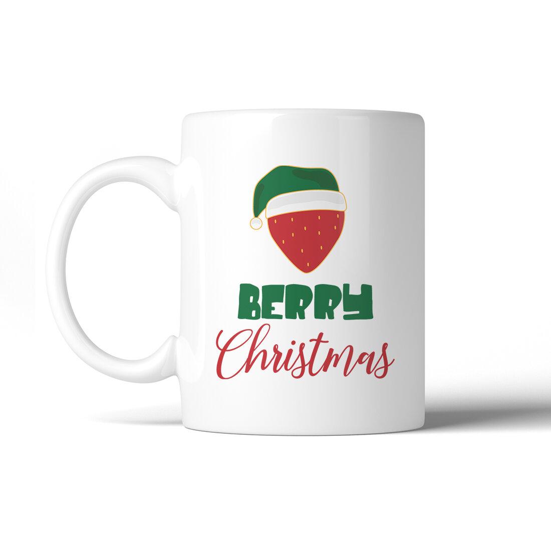 The Holiday Aisle Ludowici Berry Christmas Coffee Mug Wayfair