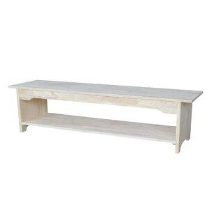Beachcrest Home Belwood Wood Bench