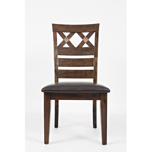 Trevon Solid Wood Dining Chair (Set of 2) Millwood Pines