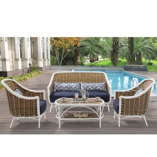 Cowgill4 Piece Sofa Seating Group with Cushions