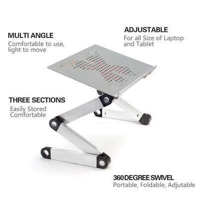Fcd Foldable Ergonomic Cooling Pad Adjustable Standing Desk