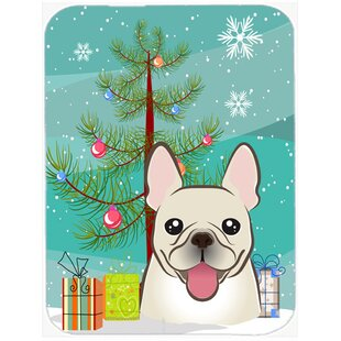 Coupon Under the Christmas Tree and French Bulldog Glass Cutting Board ByCaroline's Treasures