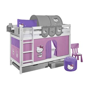 Clearbrook Single Bunk Bed With Curtain By Zoomie Kids