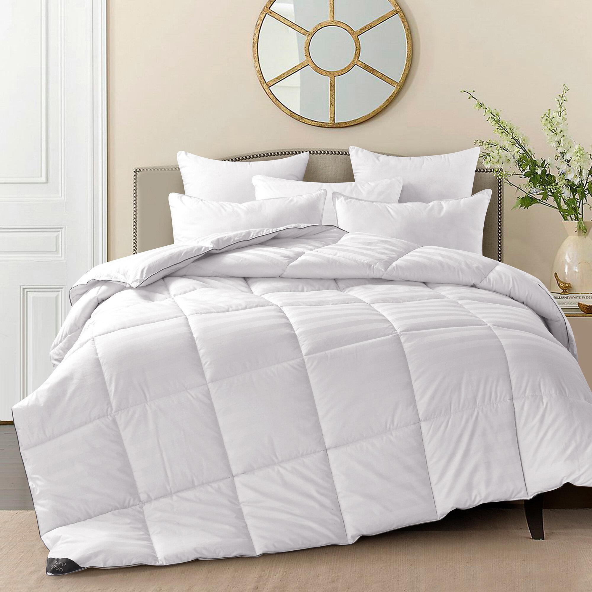 600 Fill Power All Season 75 White Down Comforter Reviews Joss Main