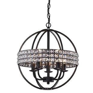 House of Hampton Lyndon 5-Light Globe Chandelier