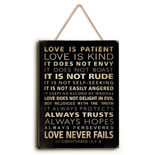 u0027Love Is Patientu0027 Textual Art  sc 1 st  Wayfair & Love Is Patient Wall Art | Wayfair