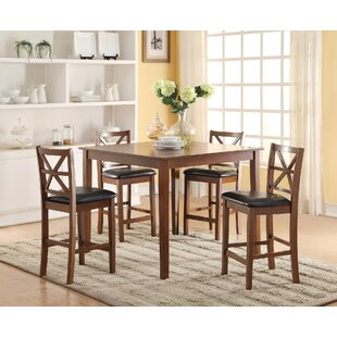 Belvidere 5 Piece Counter Height Dining Set