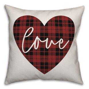 Soderberg Love Plaid Heart Throw Pillow