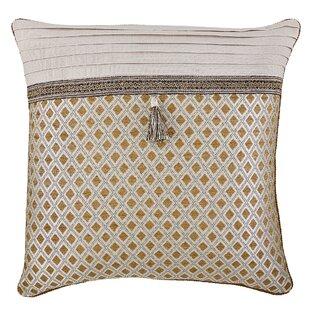 Patch Magic Brown Light Checks Fabric Euro Sham,s 26-Inch by 26-Inch