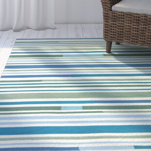 Coeymans Sea Breeze Stripes Indoor/Outdoor Area Rug