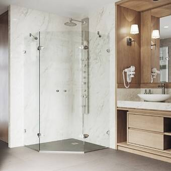 Aston Neoscape Gs 36 X 72 Neo Angle Hinged Shower Enclosure Reviews Wayfair